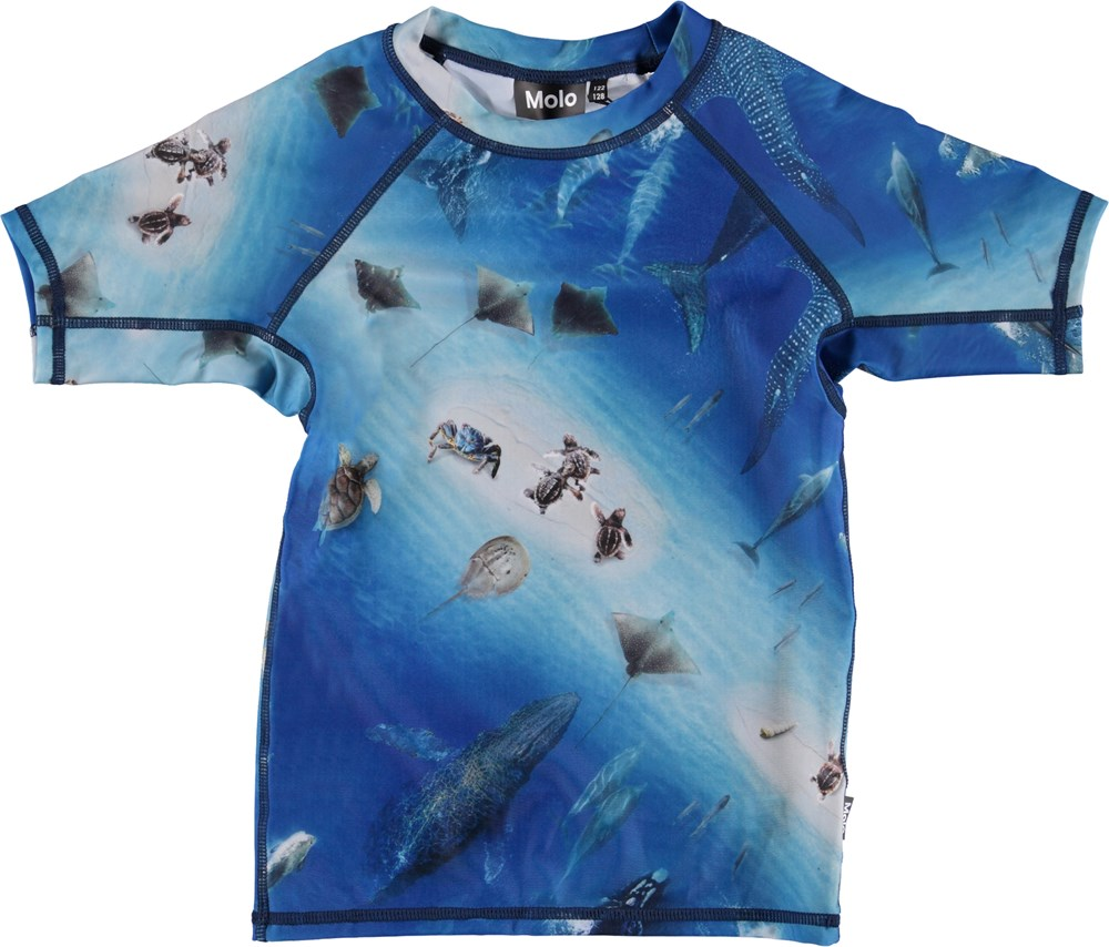 Neptune - Above Ocean - UV rashguard with ocean print