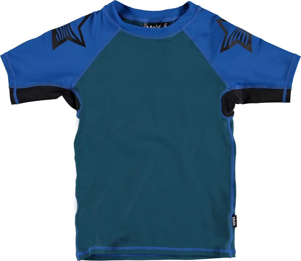 Neptune Block - Skydive Block - Blue and green UV rashguard