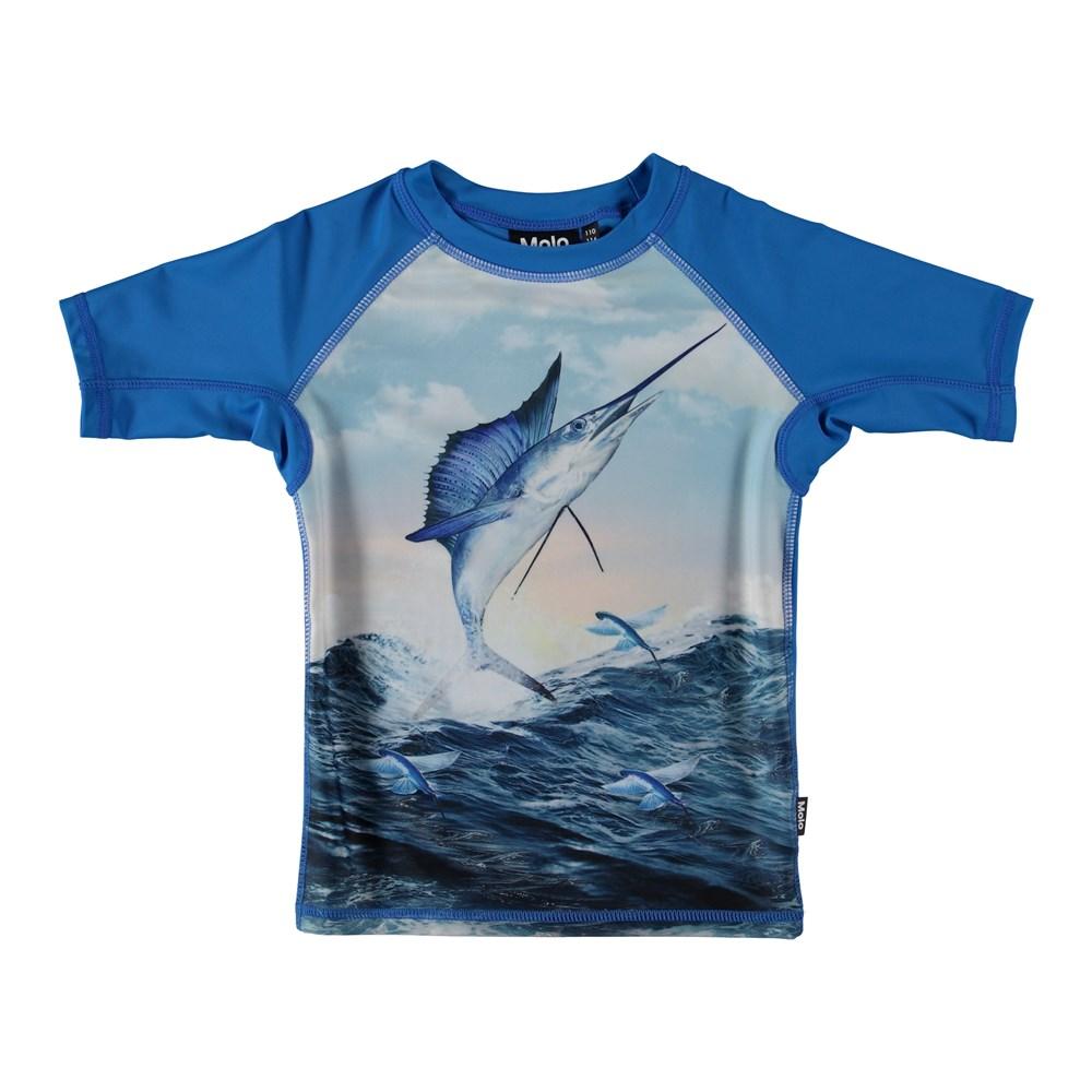 Neptune - Catch - UV rash guard with swordfish.