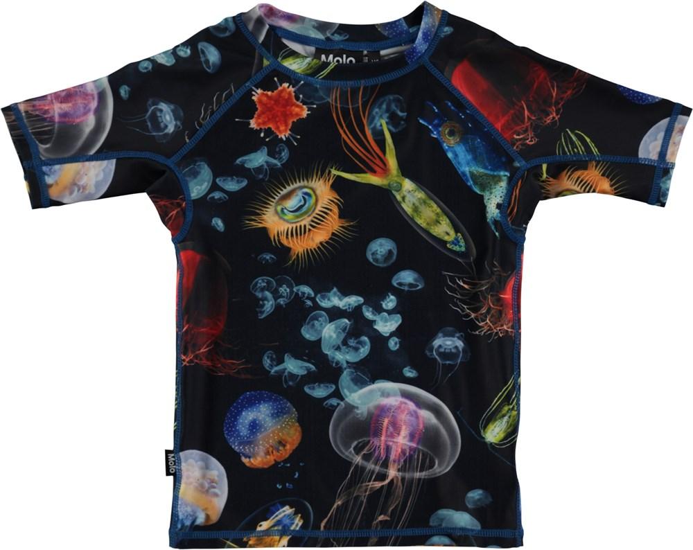 8658a6ec4f Neptune - Deep Sea - Short sleeve rash guard with digital sea lifel print