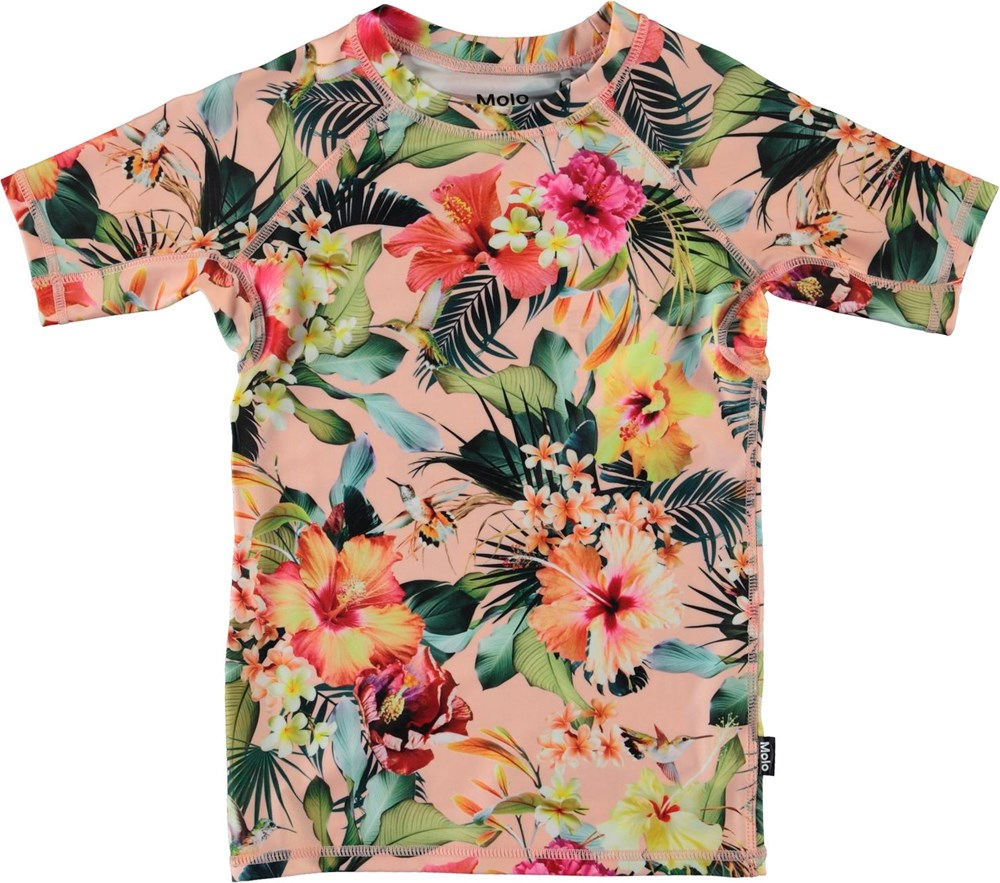 Neptune - Hawaiian Flowers - UV rashguard with floral print