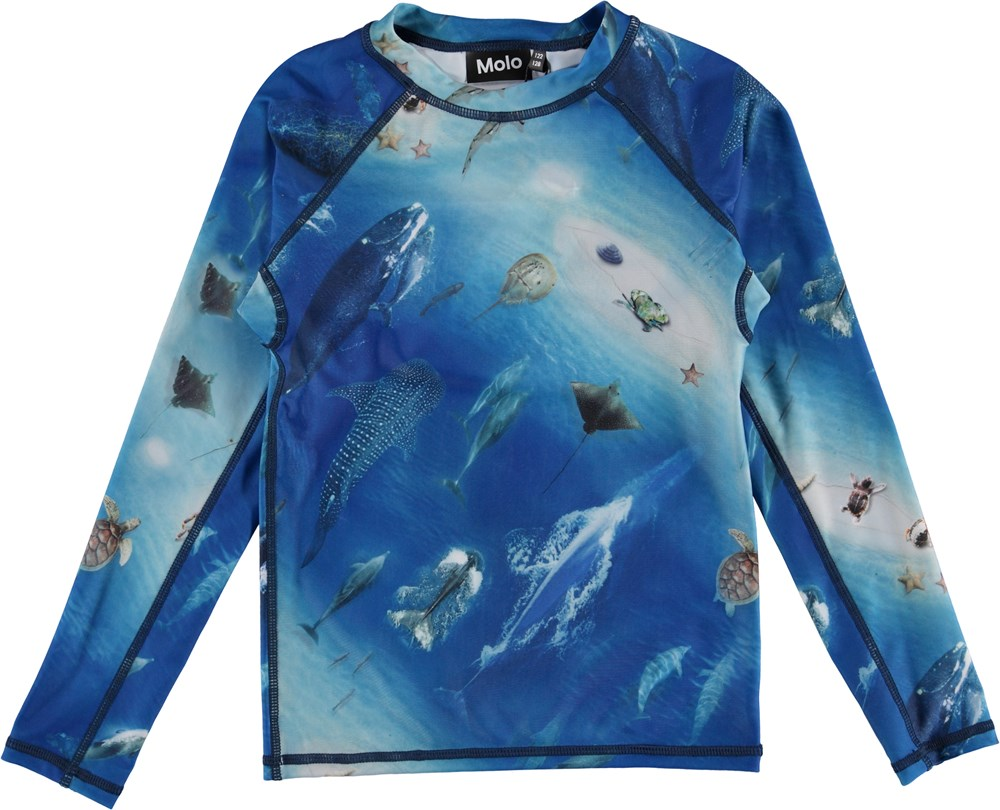 Neptune LS - Above Ocean - UV rashguard with ocean print