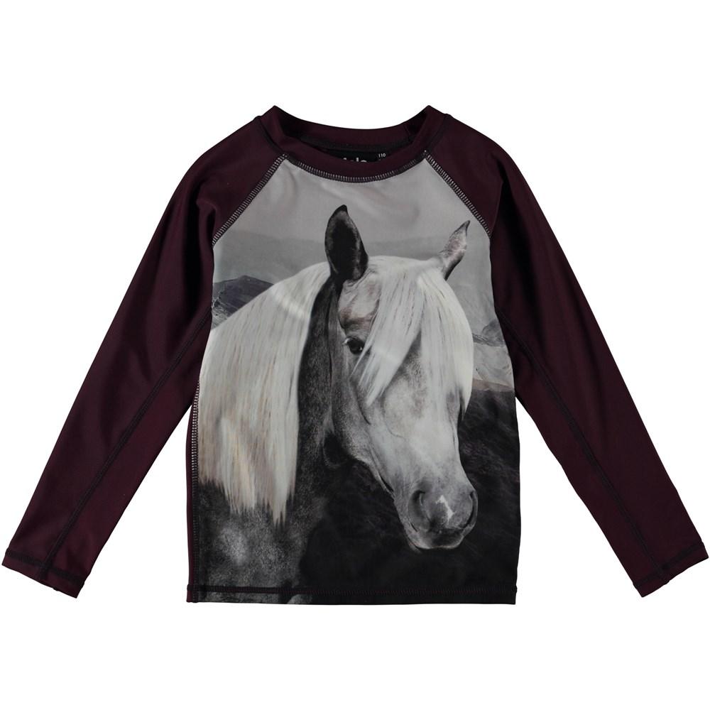 Neptune LS - Beauty - Long sleeve rash guard with horse