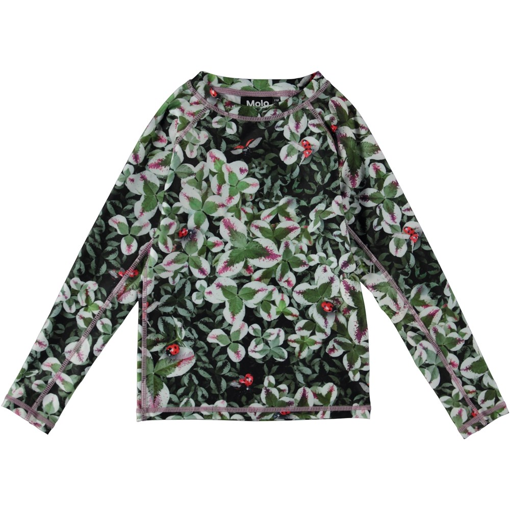 Neptune LS - Clover - UV rash guard with clover print
