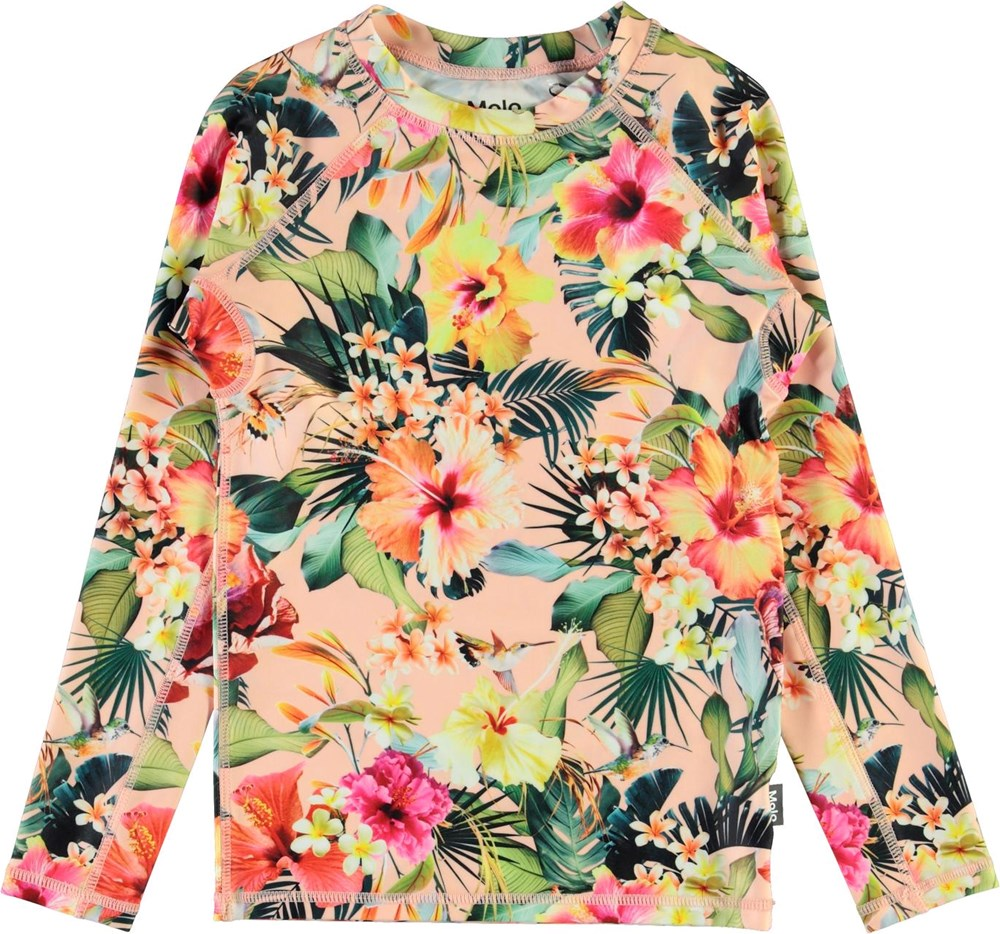 Neptune LS - Hawaiian Flowers - UV rashguard with flowers