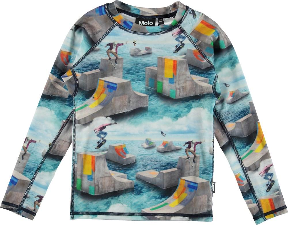 Neptune LS - Ocean Skate - Long sleeve rash guard with skaters