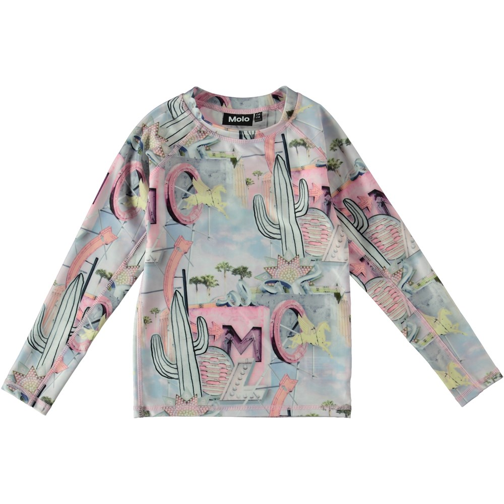 Neptune LS - Signs - Long sleeve rash guard with pastel colours