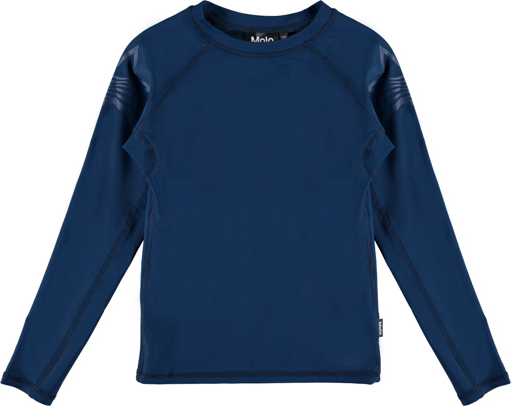 Neptune LS Solid - Blue Cave - Long sleeve, Dark blue rashguard
