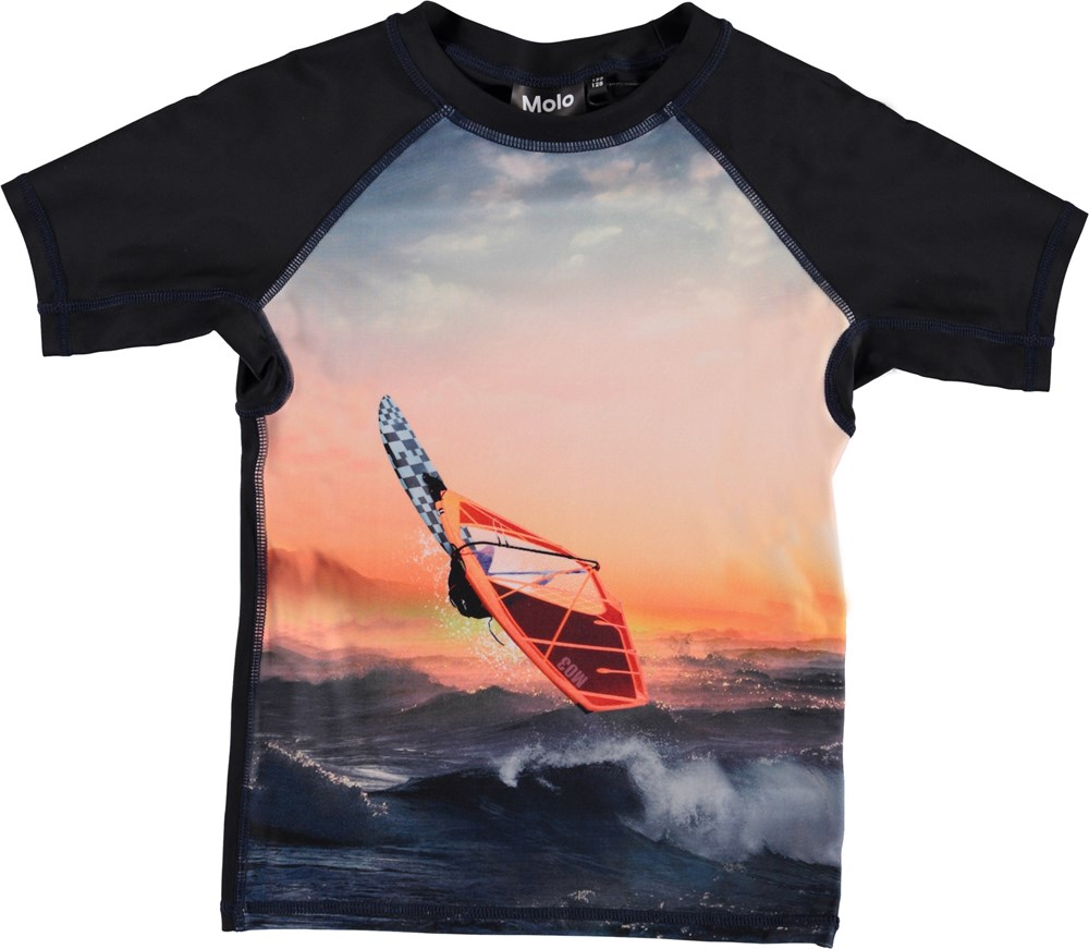 Neptune - Point Break - UV rashguard in surfer print