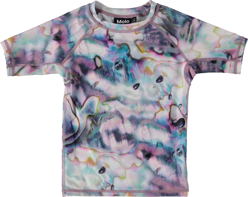 Neptune - Shells - UV rash guard with print.