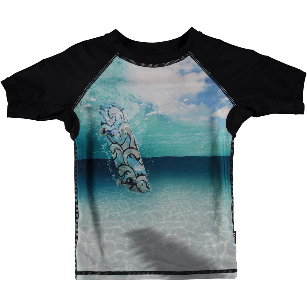Neptune - Skateboard - Rash guard with skateboard and ocean