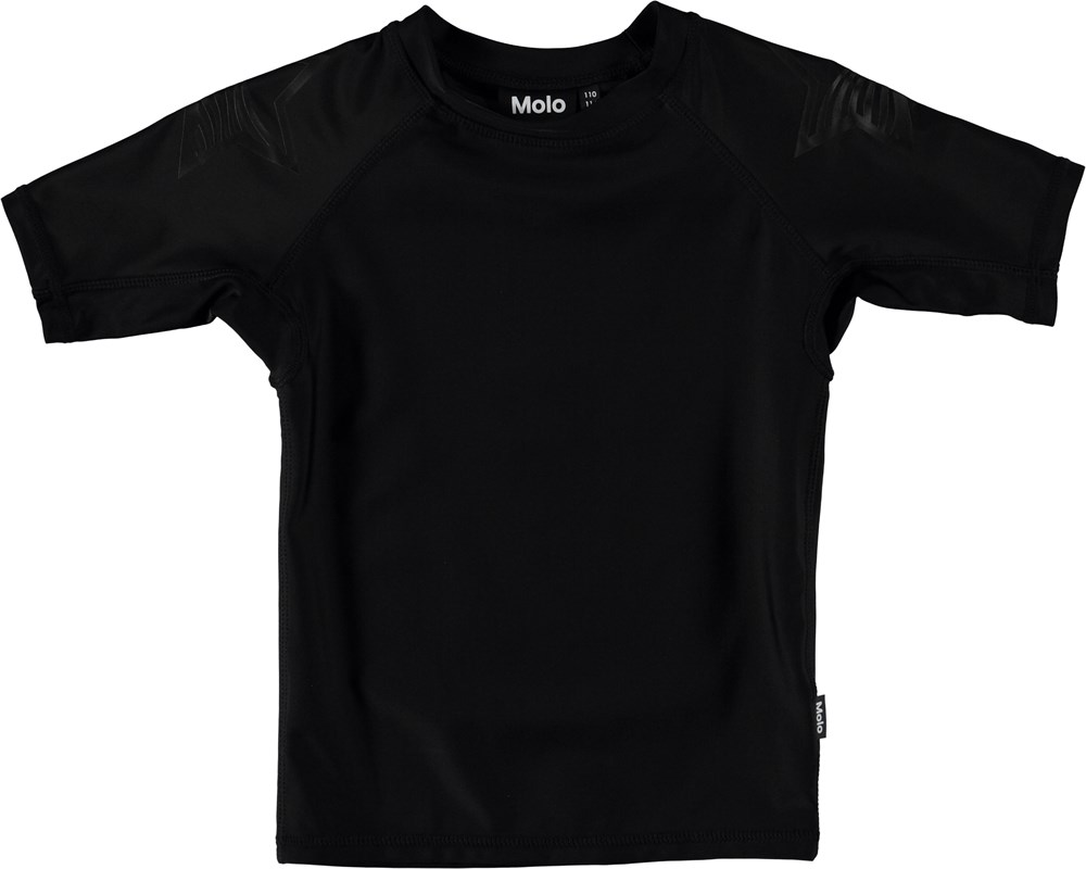 Neptune Solid - Black - Black rash guard