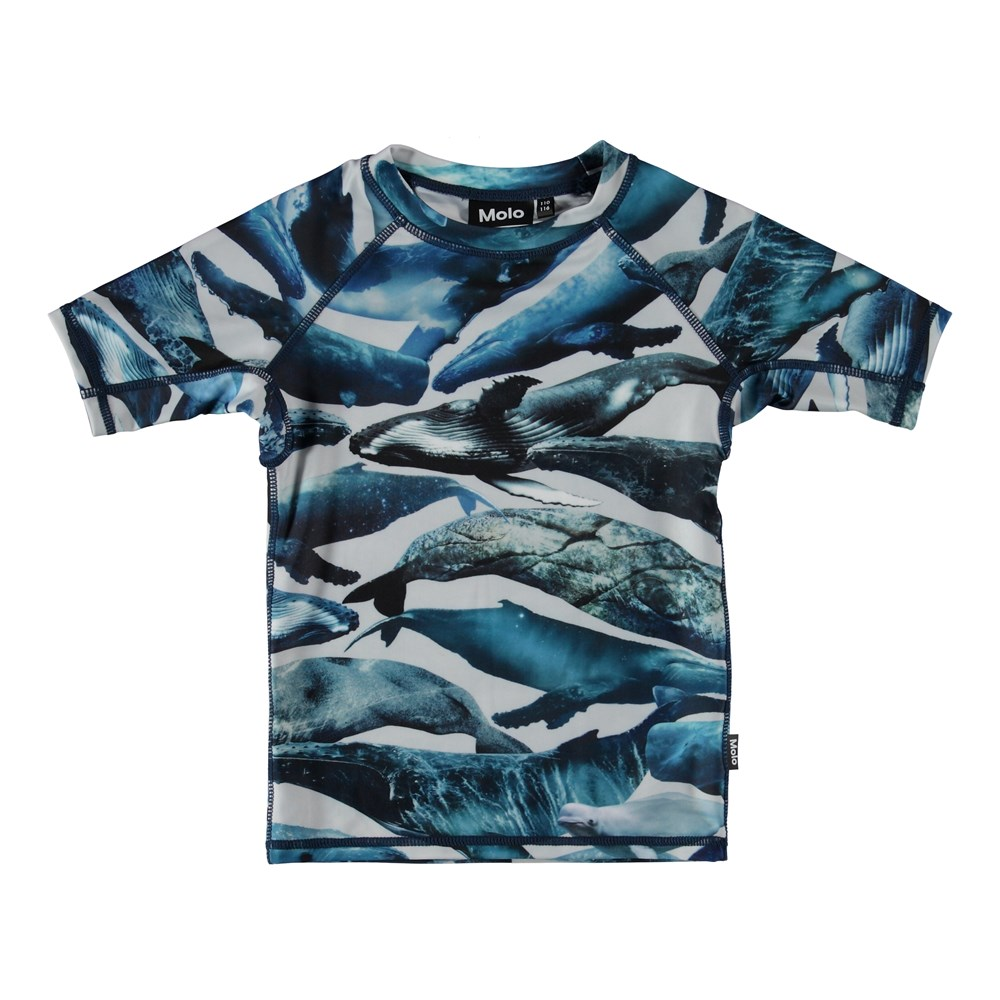 Neptune - Whales - Rash guard with whales