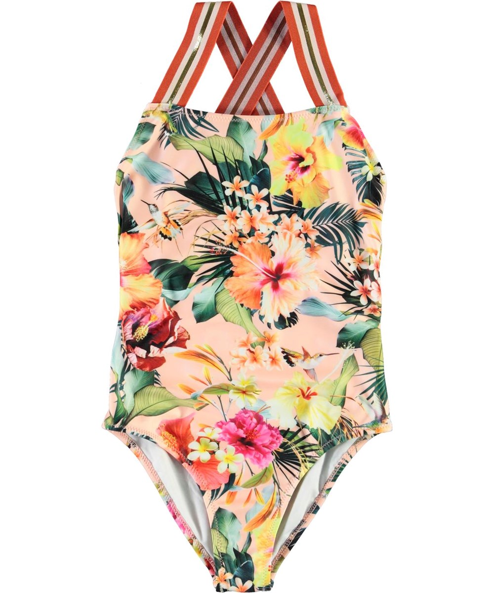 Neve - Hawaiian Flowers - UV flowered swimsuit