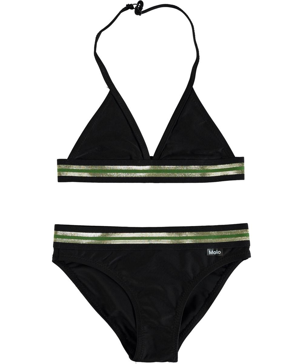 Nicoletta - Black - Triangular halter top bikini