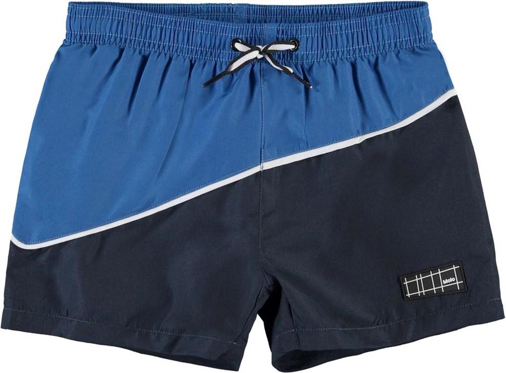 Niko Block - Snorkle Blue - Blue UV swim trunks