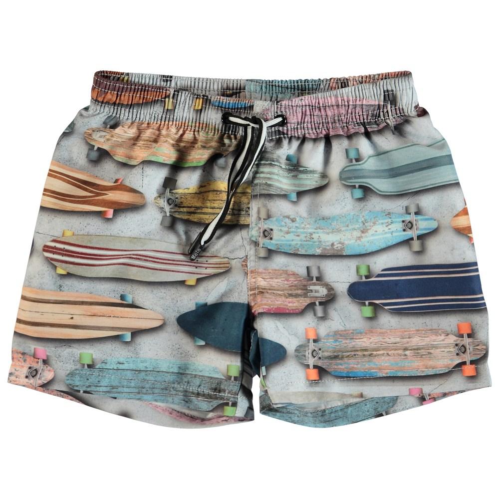 Niko - Board Stripe - Swim trunks with skateboards