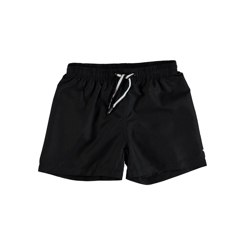 Niko Solid - Black - Black swim trunks