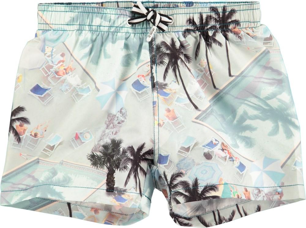 Niko - Swimmingpools - short swim trunks with swimming pool print