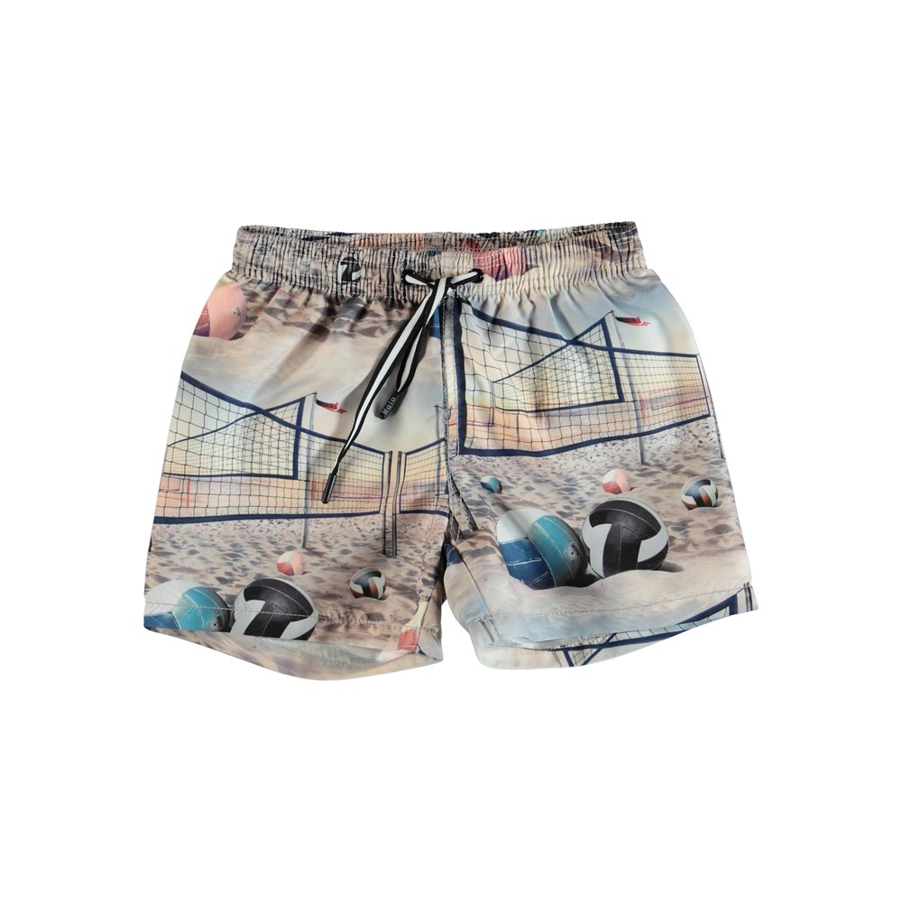 Niko - Volleyball Sunset - Swim trunks with volley print.
