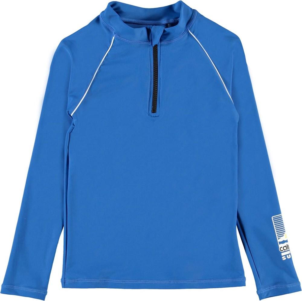Noble - Snorkle Blue - UV blue rashguard with zipper