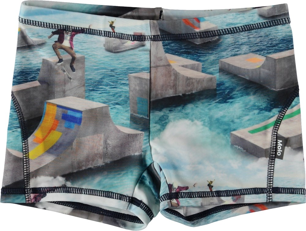 Norton - Ocean Skate - Short swim trunks with skaters