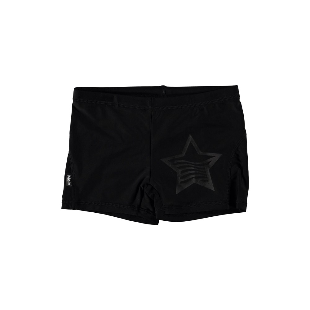 Norton Solid - Black - Short black swim trunks