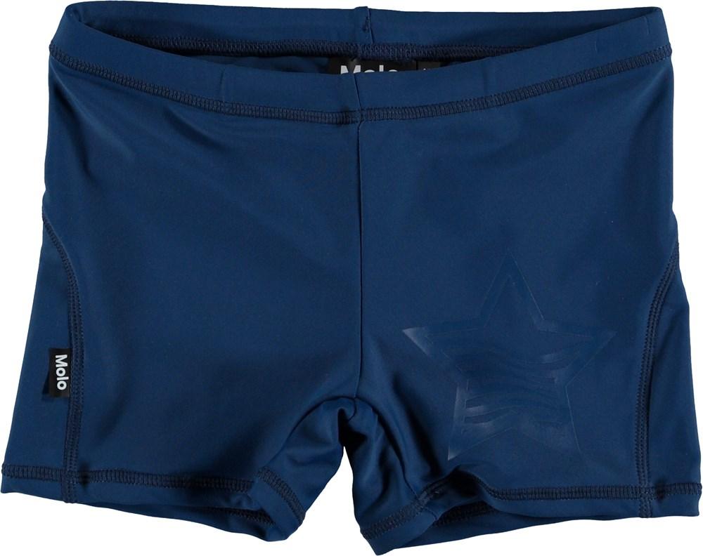 Norton Solid - Blue Cave - Short, dark blue UV swim trunks