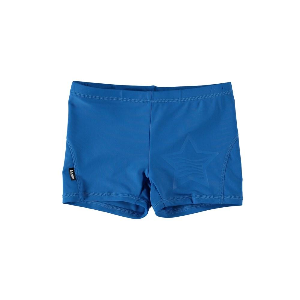 Norton Solid - Indigo Blue - Blue swim trunks.