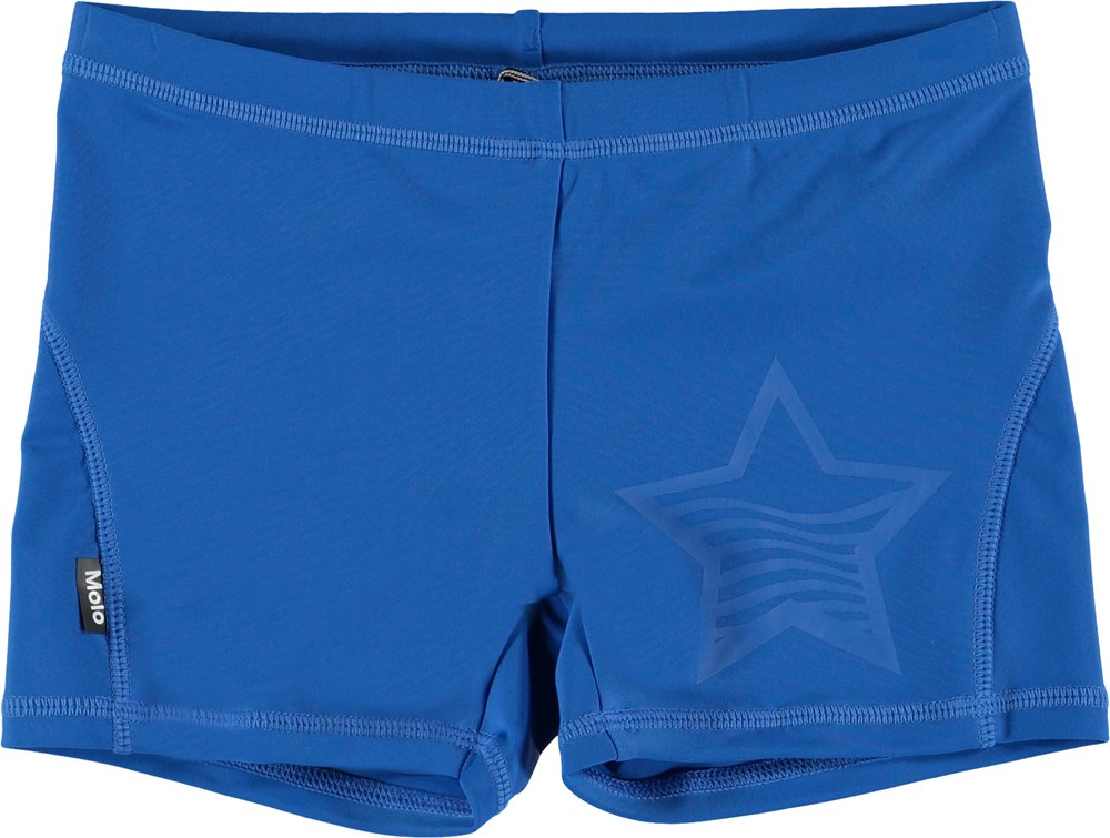 Norton Solid - Skydiver - Short blue swim trunks