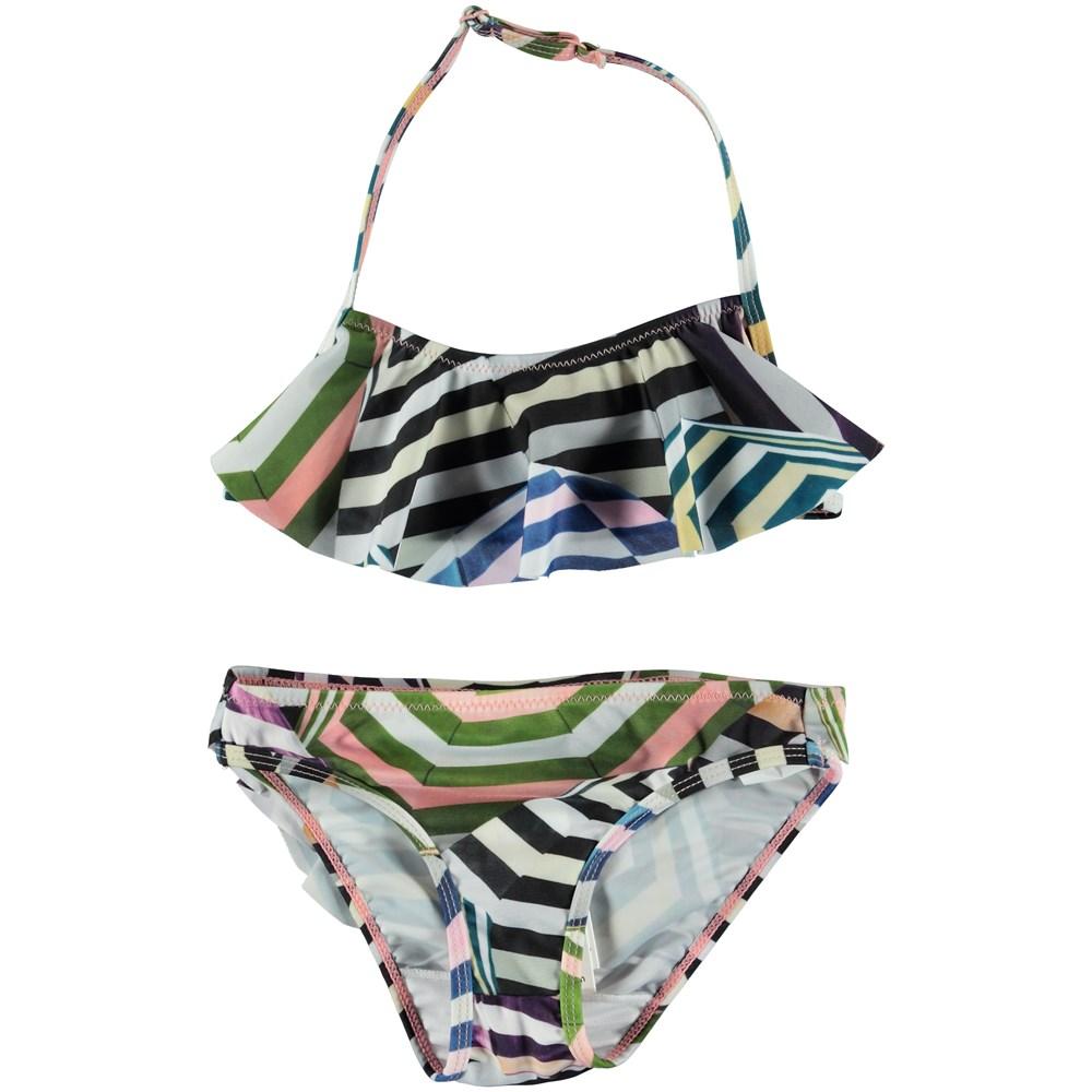 Nula - Multi Parasol - Bikini with ruffle top