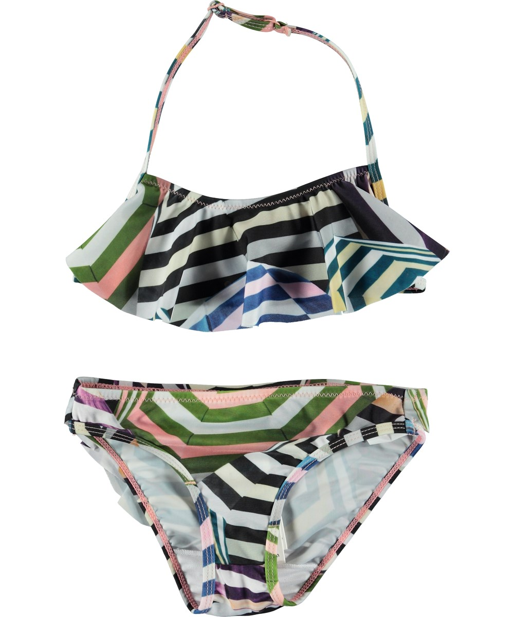 Nula - Multi Parasol - Bikini with ruffle top