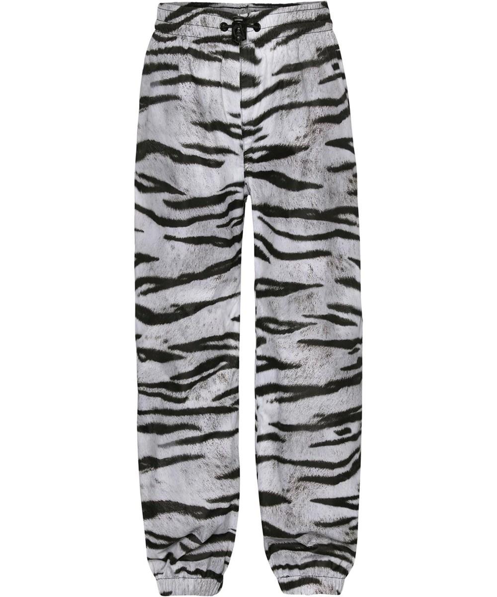 Waits - Tiger White - Regnbyxor med svart och vitt tigermönster